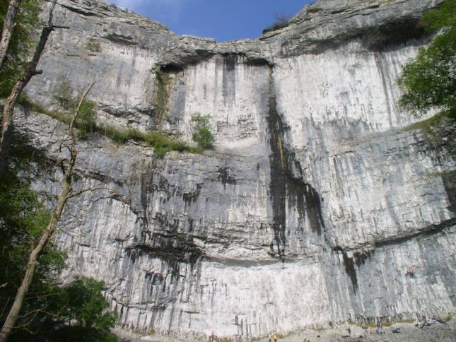 A close  up view of Malham Cove