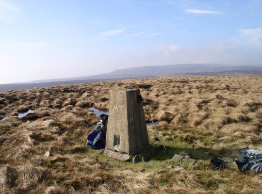 The Meugher trig point looking towards Great Whernside on my first visit in 2005