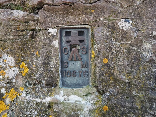 The Nettle Hill trig point's flush bracket