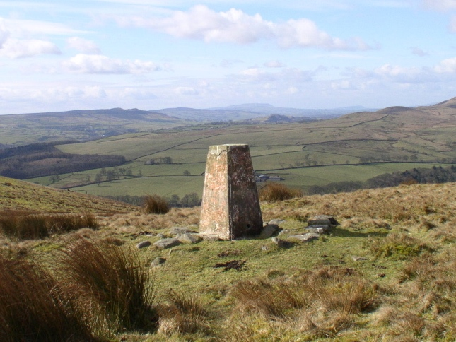 The view south-west from the North Nab trig point