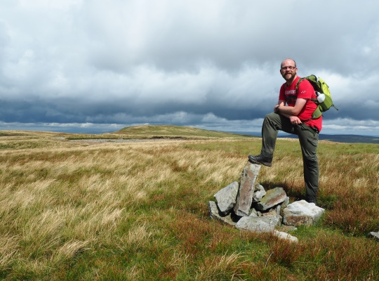 Alongside the small pile of stones marking the actual summit of Archy Styrigg