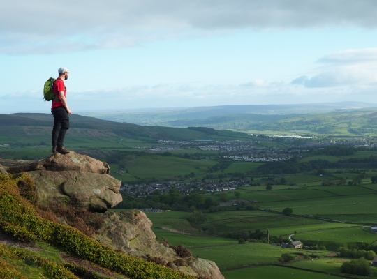 The view of Skipton and Airedale from Embsay Crag