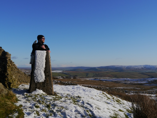 On my first visit to The Weets trig point in December 2011