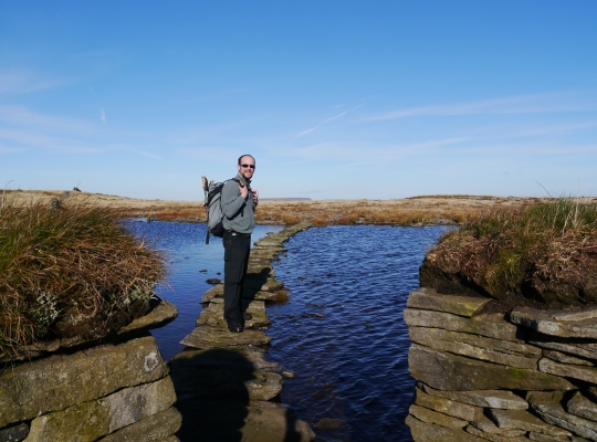 On Widdale Little Tarn's grouse butt causeway in 2012