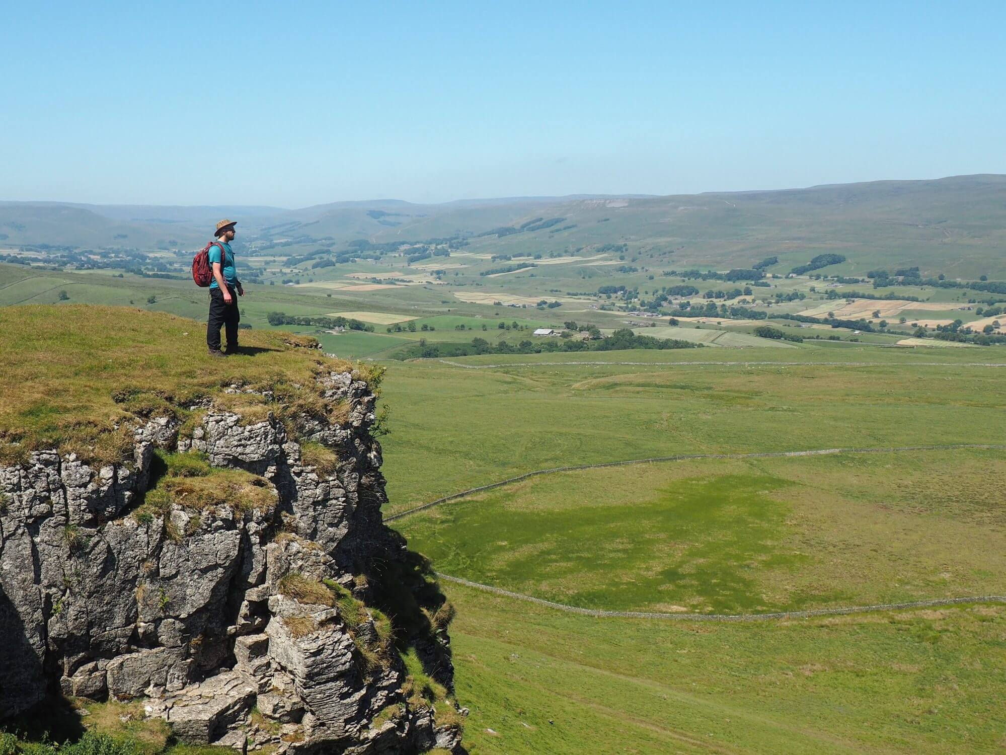 On the crags of Addlebrough