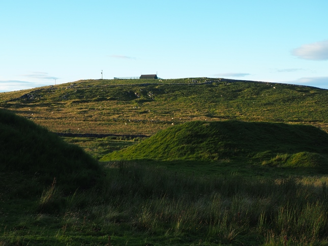 Greenhow Hill Top with some of the spoil heaps of Galloway Pasture in the foreground