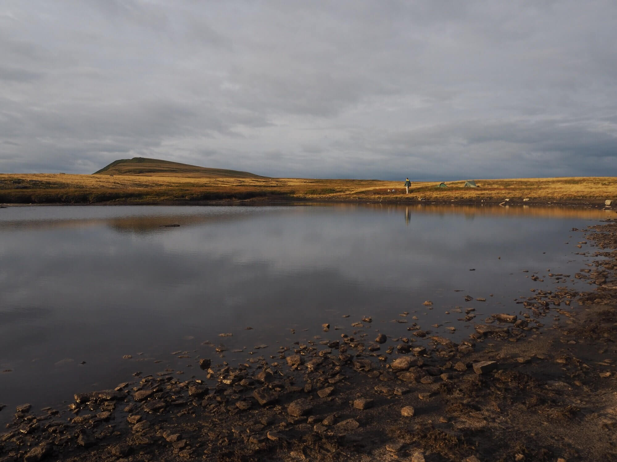 One of the Whernside Tarns with Whernside in the distance