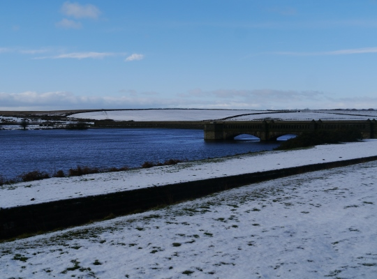 Scargill Reservoir in the winter