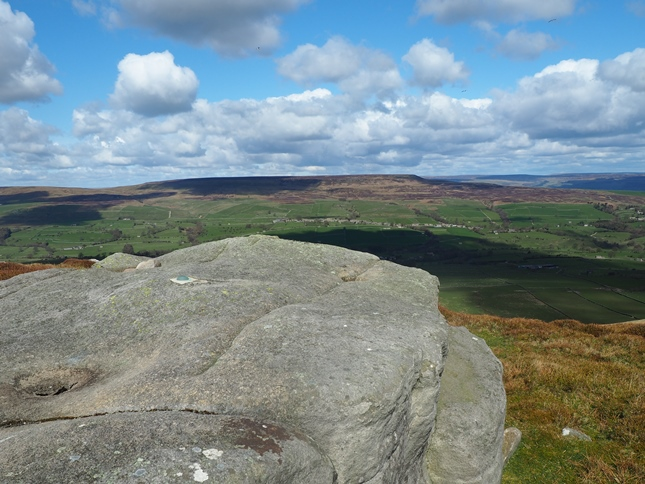 The view across Coverdale to Pen Hill from the Scrafton trig point