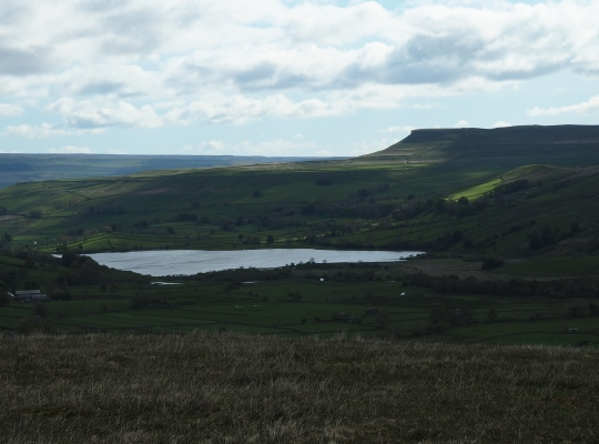 Semerwater and Addlebrough from above Marsett