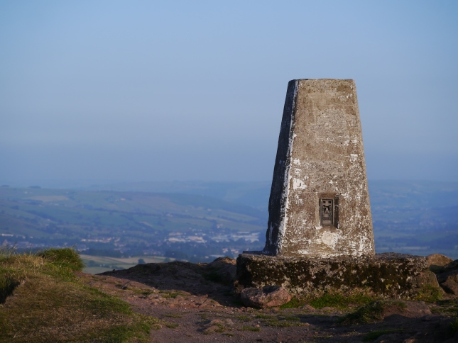 A close up of the Sharpah trig point