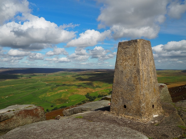 The view north-east from the Simons Seat trig point