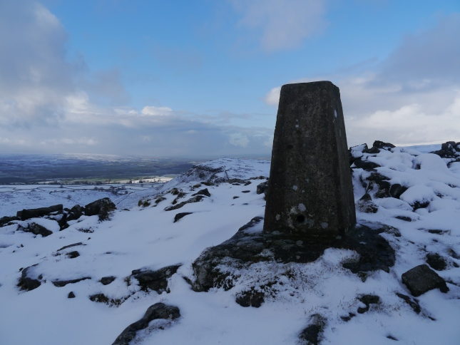 The Smearsett Scar trig point