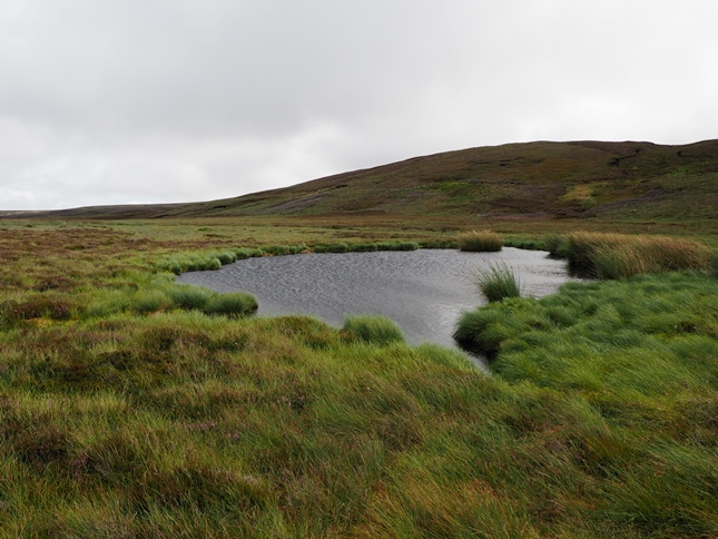 The smaller of the two remaining tarns