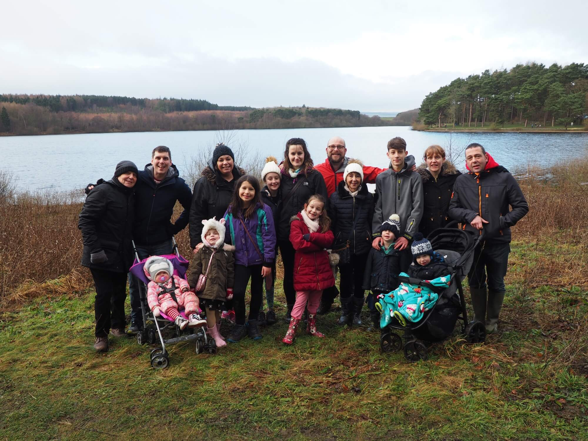 Family photo at Swinsty Reservoir