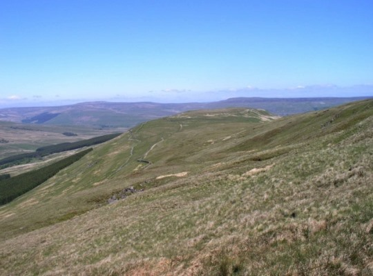 Ten End, the northern ridge of Dodd Fell Hill