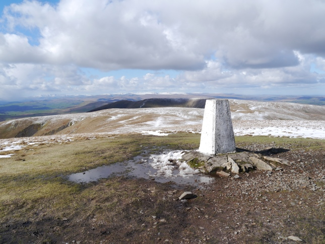 The Calf trig point looking north