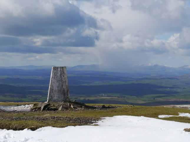 The Coniston Fells from The Calf trig point