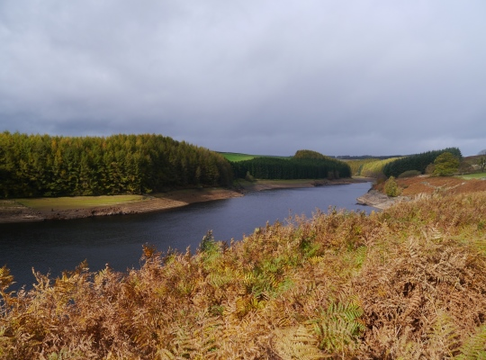 The long northern arm of Thruscross Reservoir