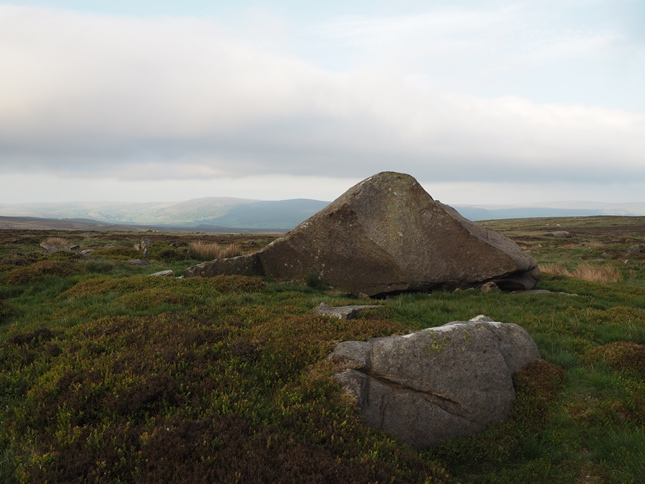 The distinctively shaped boulder marking the highest point of Brown Bank