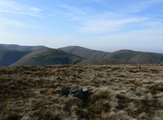 The tiny summit cairn on Hooksey