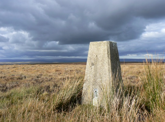The trig point on Hoove