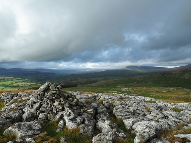 The view of Ribblesdale from the cairn