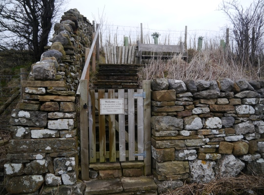 The gate leading to the bench where Turner made his sketch of Semerwater