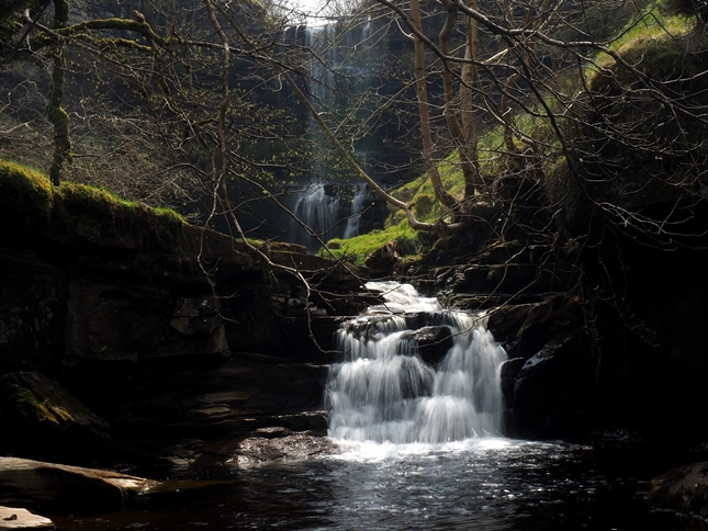 A smaller waterfall just below Uldale Force which can be seen in the background