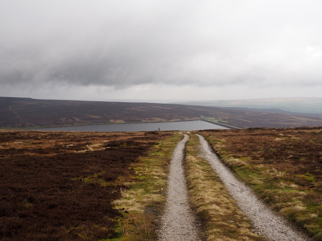 Upper Barden Reservoir from the track on Brown Bank