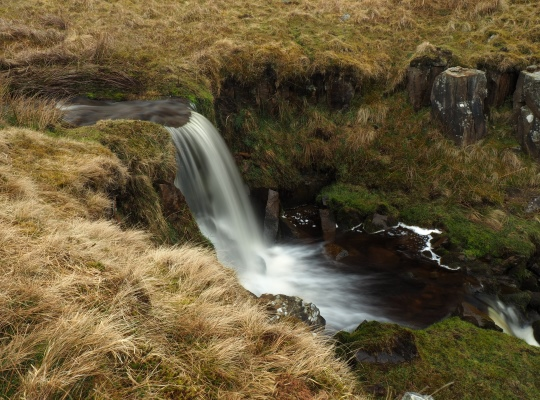 The waterfall on the unnamed stream to the west of Water Ling Force