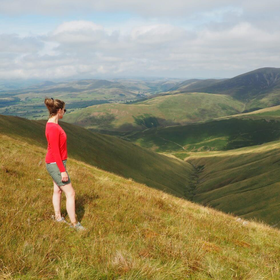 The western Howgill Fells from Arant Haw