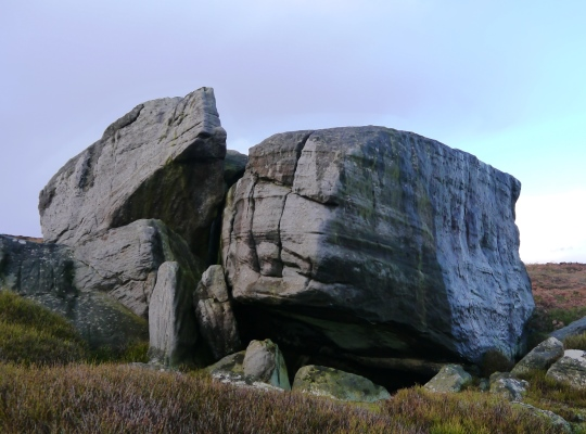 Two of the larger rocks to be found at Wolf Crags