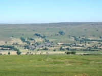 Looking down at Askrigg
