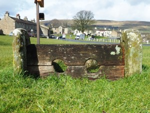 The stocks on the village green