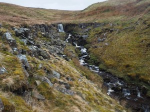 The stream and small waterfall to the west of Water Ling Force