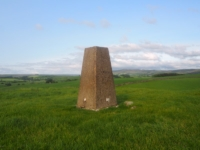 The trig point on Haw Crag