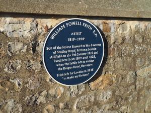 The plaque commemorating William Powell Frith