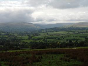 A view back across the valley and up Bishopdale