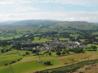 Looking back down at Sedbergh