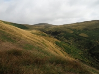 Looking up at Arant Haw above the head of Settlebeck Gill