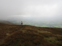 The cloud drops as Lisa nears the top of Winder