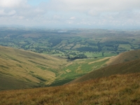 Looking down at Crosdale and Lunedale