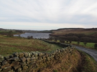 Looking back down Pott Bank to Leighton Reservoir