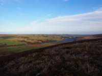 The view down the valley towards Roundhill Reservoir