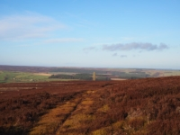 Heading across the moor towards the sighting tower