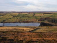 Heading down towards Roundhill Reservoir