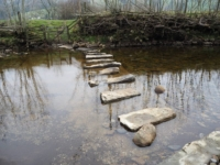 Stepping stones across the River Dee
