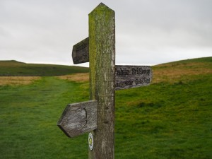 I took the right hand option at this signpost