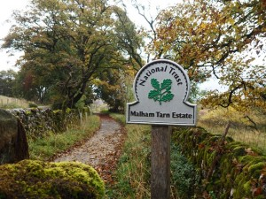 Entering the Malham Tarn Estate
